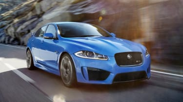 Jaguar XFR-S blue sports saloon