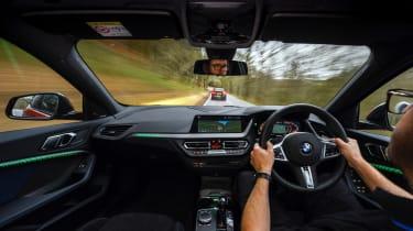 Mercedes-AMG A35 saloon vs Cupra Leon R Abt vs BMW M135i - BMW interior