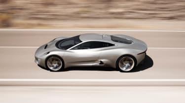Jaguar C-X75 hybrid supercar makes production