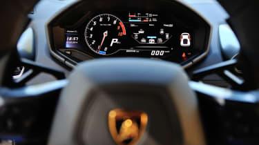 Lamborghini Huracan instrument cluster