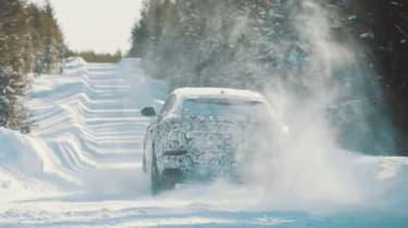 Lamborghini Urus snow video – rear