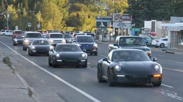 Porsche 911 spy - convoy