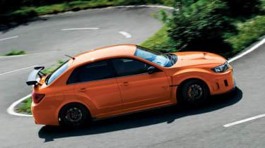 Subaru Impreza WRX STI tS Type RA Tangerine Orange side profile