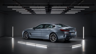 BMW 8-series Gran Coupe rear quarter