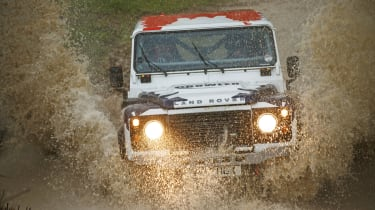 Land Rover Defender Challenge water splash