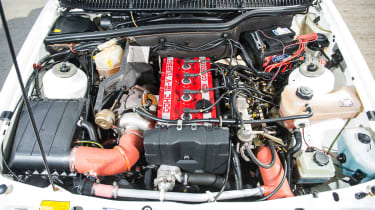 Ford Sierra Cosworth RS500 – engine bay