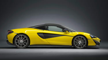 McLaren 570S Spider - profile roof up