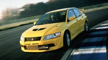 Mitsubishi Lancer Evolution VII - yellow