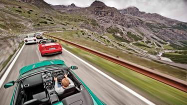Audi R8 Spyder v Alfa 8C Spider v Aston Vantage S v Porsche 911 GTS