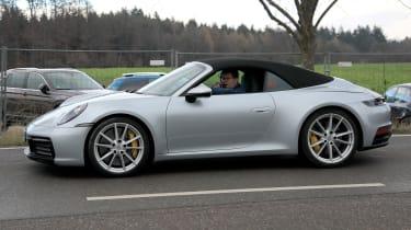Porsche 911 Cabrio spy - side