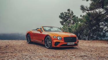 Bentley Continental GT Convertible drive - front quarter