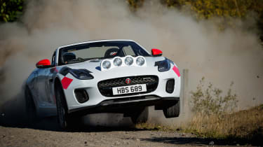 Jaguar F-Type rally car - jump 2