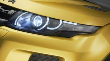 Range Rover Evoque Sicilian Yellow Limited Edition headlight