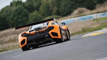 McLaren 12C Can-Am spitting flames