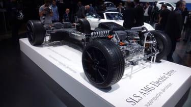 Mercedes SLS Electric Drive at the Paris motor show