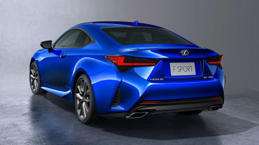 Lexus RC coupe facelift - rear quarter