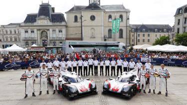Le Mans 2017 Porsche team