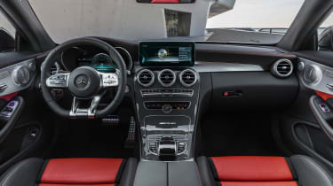 Mercedes-AMG C 63 S Coupe - white seats