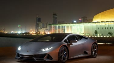 Lamborghini Huracan EVO silver - static