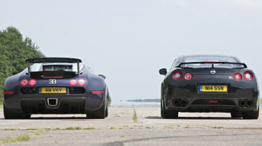 Bugatti Veyron and Nissan GT-R
