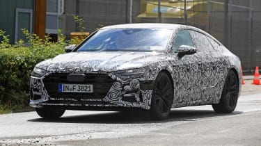 Audi A7 spied - front 3.4