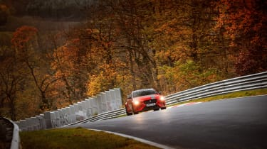 Jaguar XE SV Project 8 at the Nurburgring – front