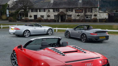 Audi R8 Spyder group test