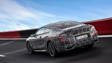 BMW 8 series official spy shots rear