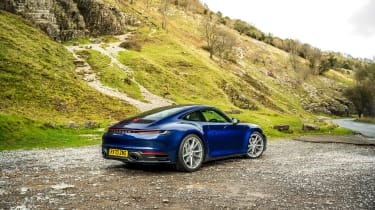 Porsche 911 Carrera S manual blue - static rear quarter