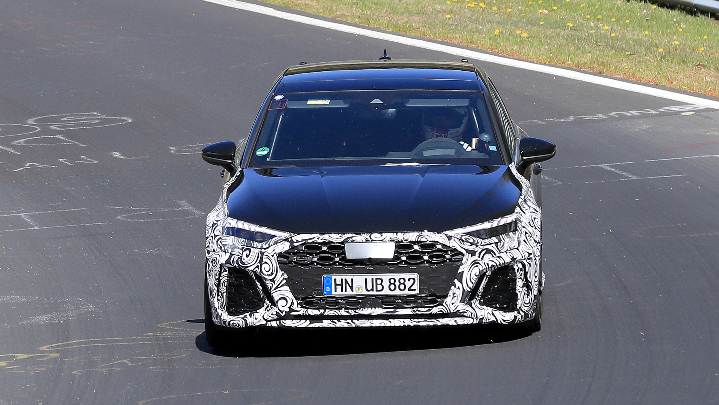 New Audi RS3 spied again – to go head-to-head with the AMG A45 S