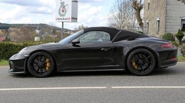Porsche 911 Speedster spy - side