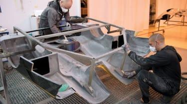 Prepping a rear Koenigsegg clamshell