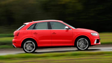 Audi RS Q3 red side profile