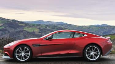 Aston Martin Vanquish Italian hills