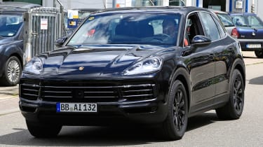 Porsche Cayenne spy shot front