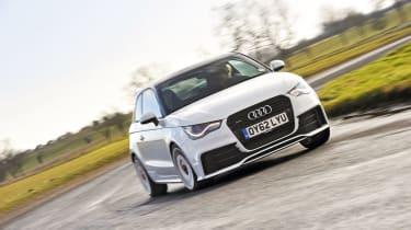 Audi A1 Quattro cornering