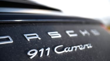 Porsche 911 Carrera group test badge
