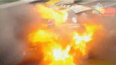 Roger Green evo Nurburgring Lotus fire