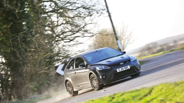 Ford Focus RS500 going sideways