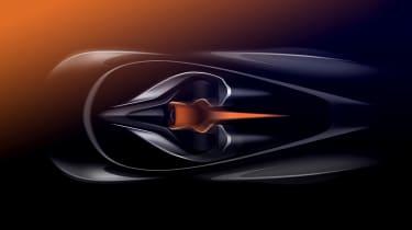 McLaren BP23 sketch – three seat cockpit overview