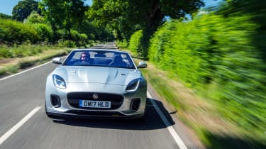 Jaguar F-type 400 Sport front tracking