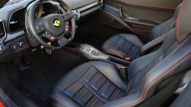Ferrari 458 twin turbo by Hennessey black leather interior