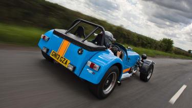 Caterham 620R blue and orange rear