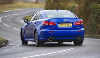 Lexus IS-F cornering shot