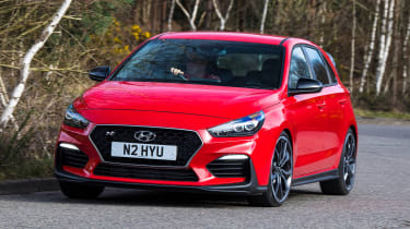 Best hot hatchbacks 2021 - Hyundai i30 N front