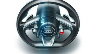 Audi Quattro concept steering wheel