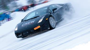 Lamborghini snow drift