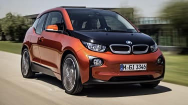 BMW i3 orange front