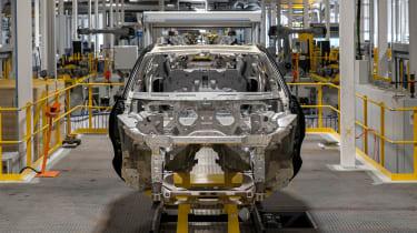 Aston Martin DBX production line