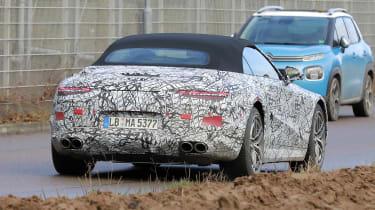 Mercedes SL spy 2021 - rear